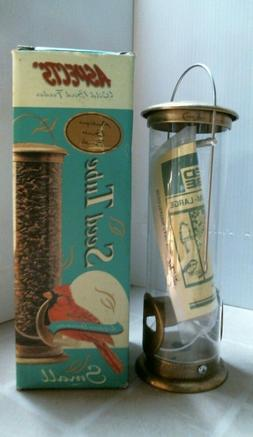 wild bird feeder antique brass finish seed