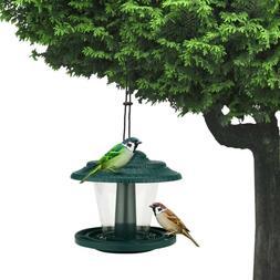 Wild Bird Feeder Clear Hanging Garden Yard Outside Decor Bir