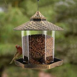Wild Bird Feeder Hanging for Garden Yard Outside Decoration,