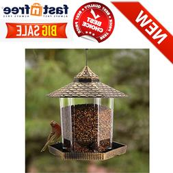 Wild Bird Feeder Hanging for Garden Yard Outside Decoration,