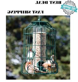 Wild Bird Seed Feeder Easy Fill Squirrel Proof Green color M