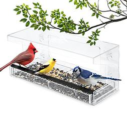 Window Bird Feeder 4 Super Strong Suction Cups & Sliding See