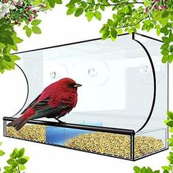Window Bird Feeder Accessories For Outside - XL 5 Inch Openi