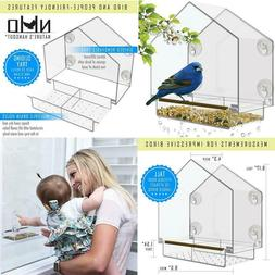 Window Bird Feeder - Large Bird House For Outside. Removable