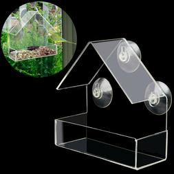 Window Bird Feeder Wild Table Hanging Suction Perspex Clear