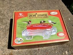 Window Hummingbird Feeder Jewel Box Aspects 8 oz Ant Moat Li