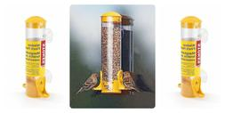 Stokes Select Window Seed Bird Feeder- Two Feeding Ports Yel
