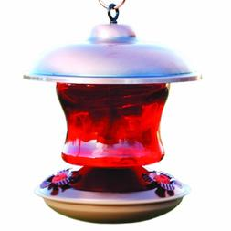 WoodLink WLH5 Brushed Copper & Ruby Glass Feeder