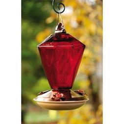 WoodLink WLH9 Brushed Copper diamond glass hummingbird feede