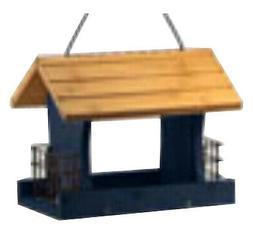 WOODLINK Wood Bird Feeder, Blue, 12-In. NARANCH3B