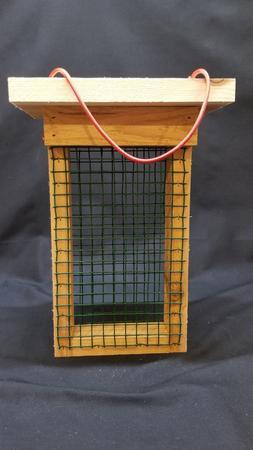 Wood Cedar Double Suet Cake Hanging Bird Feeder