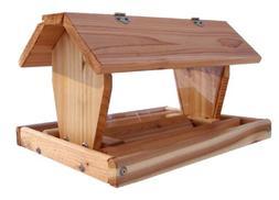 Wood Medium Post Mount Feeder