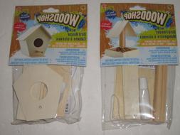 wooden birdhouse or bird feeder kit build