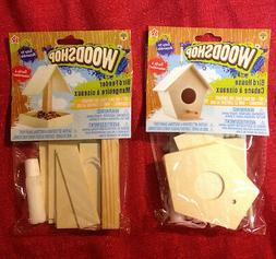 Wooden Birdhouse or Bird Feeder Kit Build A Real Miniature W