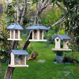 Wooden creative <font><b>bird</b></font> <font><b>feeder</b>