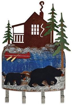 Sunset Vista Designs Woodland Bear Wall Mounted Key Rack Org