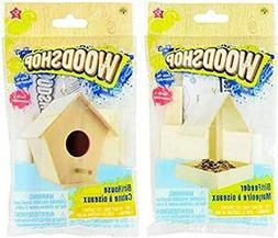 Woodshop Wood Craft Bird House Model Kid Toy Easy To Assembl
