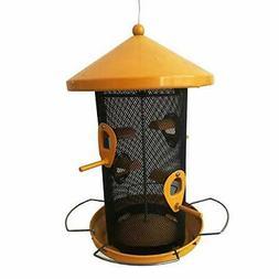 Garden Treasures Yellow Metal Bird Feeder Outdoor Hanging Bi